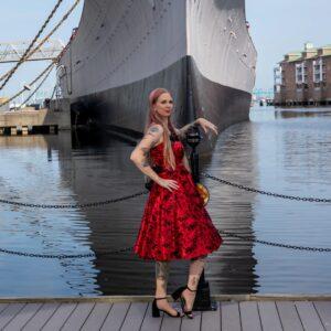 USS Wisconsin shoot