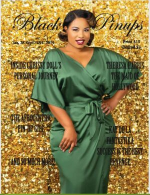 Chrissy Doll on the cover of Black Pinups Magazine